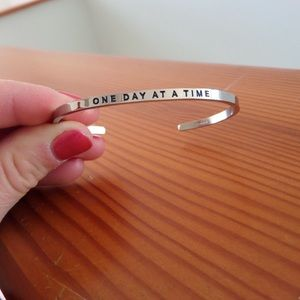 """MantraBand """"One Day at a Time"""" Cuff"""
